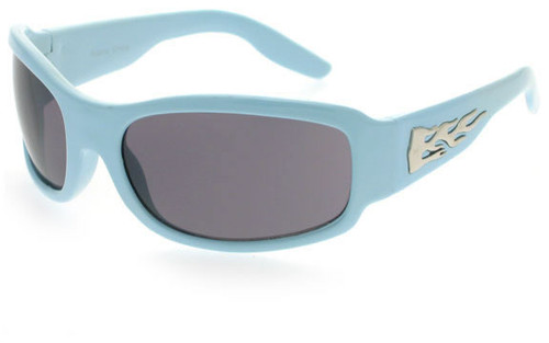 Light Blue Frame/Smoke Lens