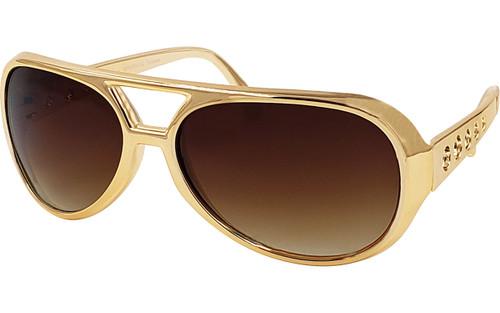 Large Model -- Brown Lens / Gold Frame