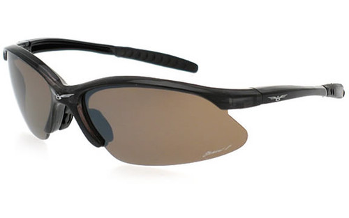 Crystal Grey Frame/Brown Lens