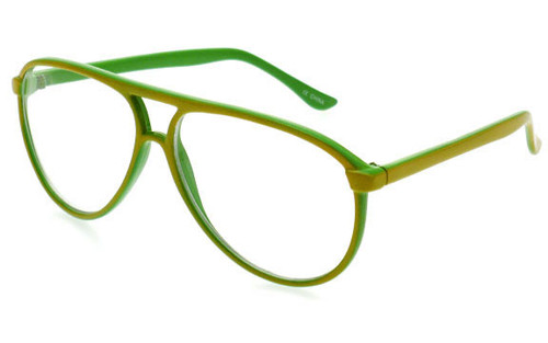 Yellow Green Frame/Clear Lens
