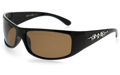 Gloss Black Frame/Polarized Brown Lens