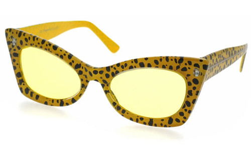 Cheetah Frame/Yellow Lens
