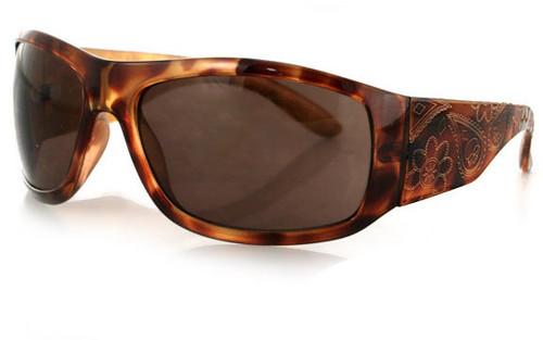 Tortoise Gold Paisley Frame/Brown Lens
