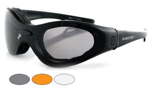Black Frame w/Smoke, Amber, and Clear Lenses