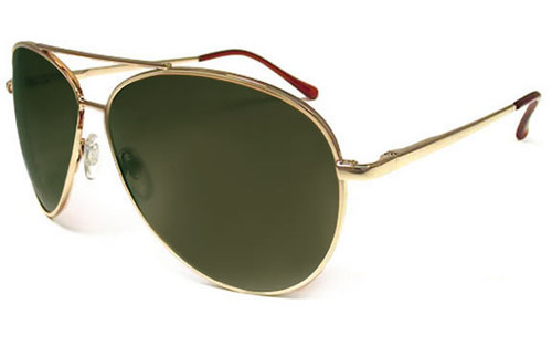 Shiny Gold Frame/Grey-Green Lens
