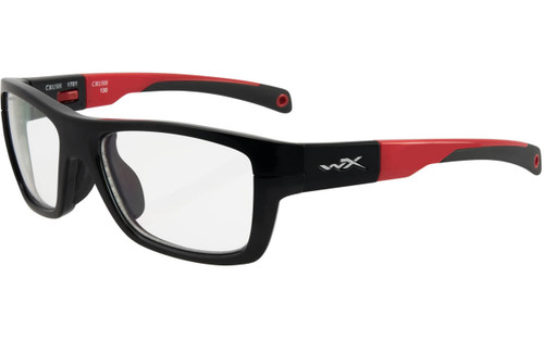 Gloss Black / Red Frame