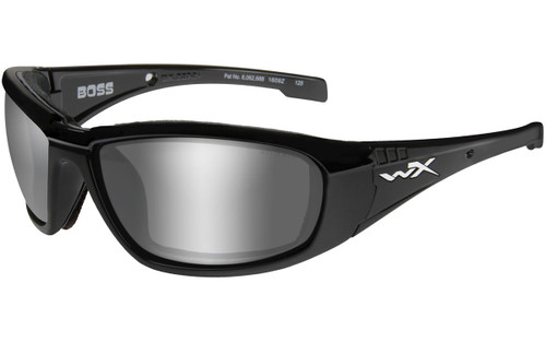 Silver Flash (Grey Tint) Lens/Gloss Black Frame