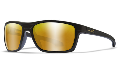 Polarized Venice Gold Mirror Lens/Matte Black Frame