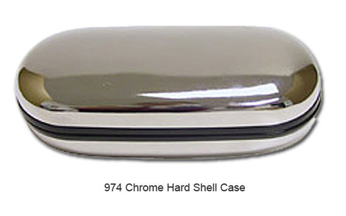 Chrome Clamshell Sunglass Case