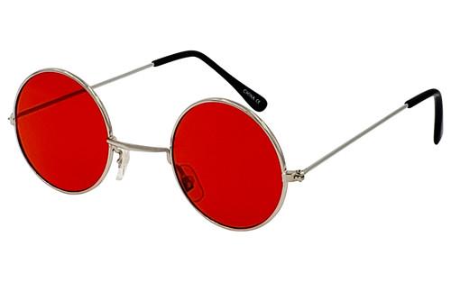 Red Lens/Silver Frame