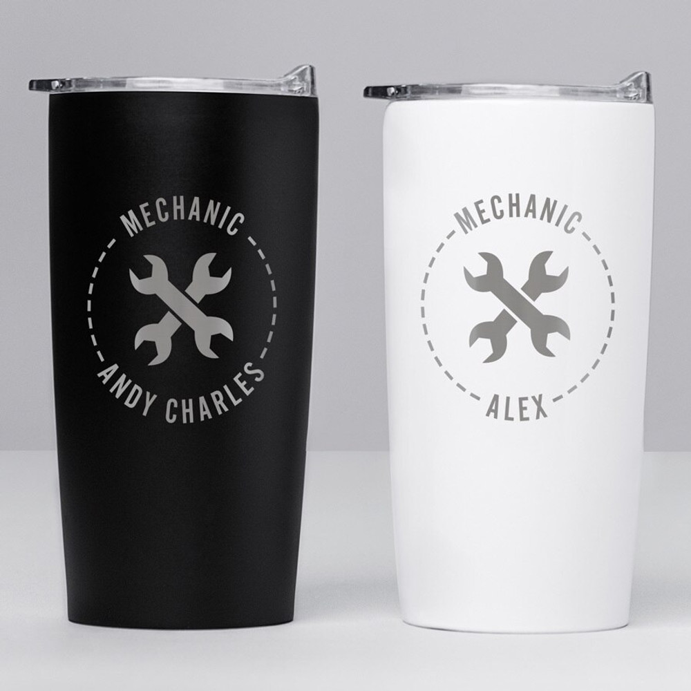 Personalized Mechanic  Stainless Steel Tumbler