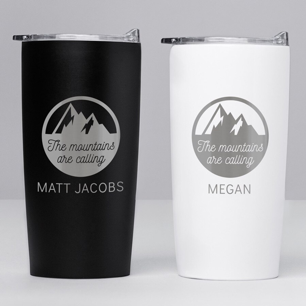 Personalized Mountain/Hiking Stainless Steel Tumbler