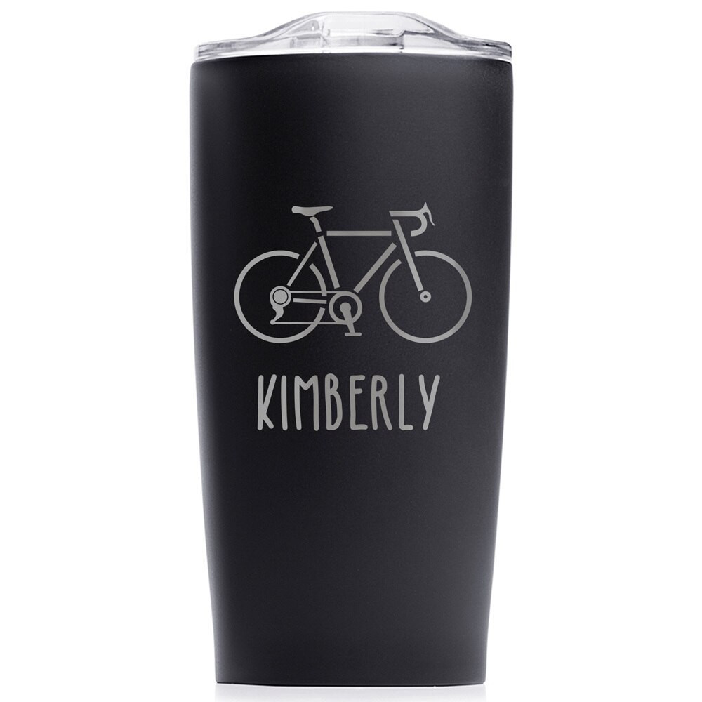 biking tumbler personalized