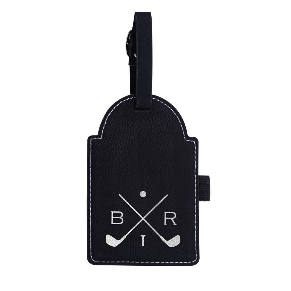Personalized Monogrammed Custom Golf Tag Black