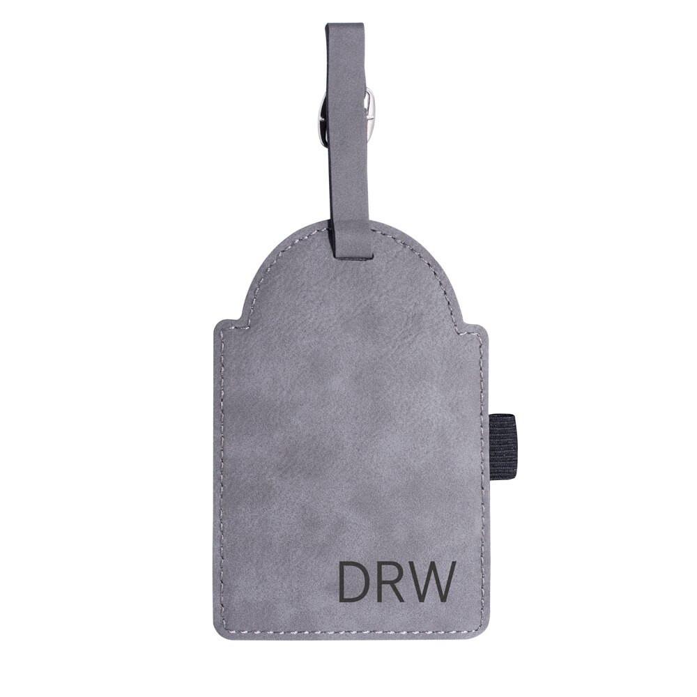 Personalized Initials Custom Golf Bag Tag Gray