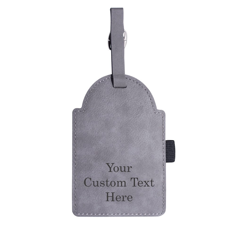 Create Your Own Personalized Custom Golf Bag Tag Gray