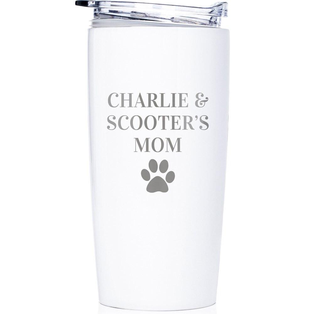 Custom Dog Tumbler for Dog Mom White