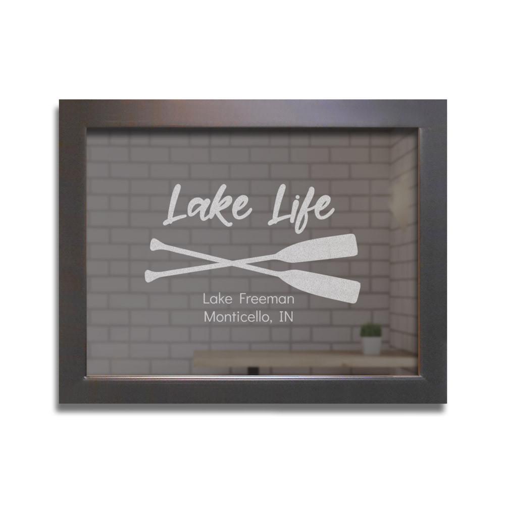 lake house bar mirror personalized