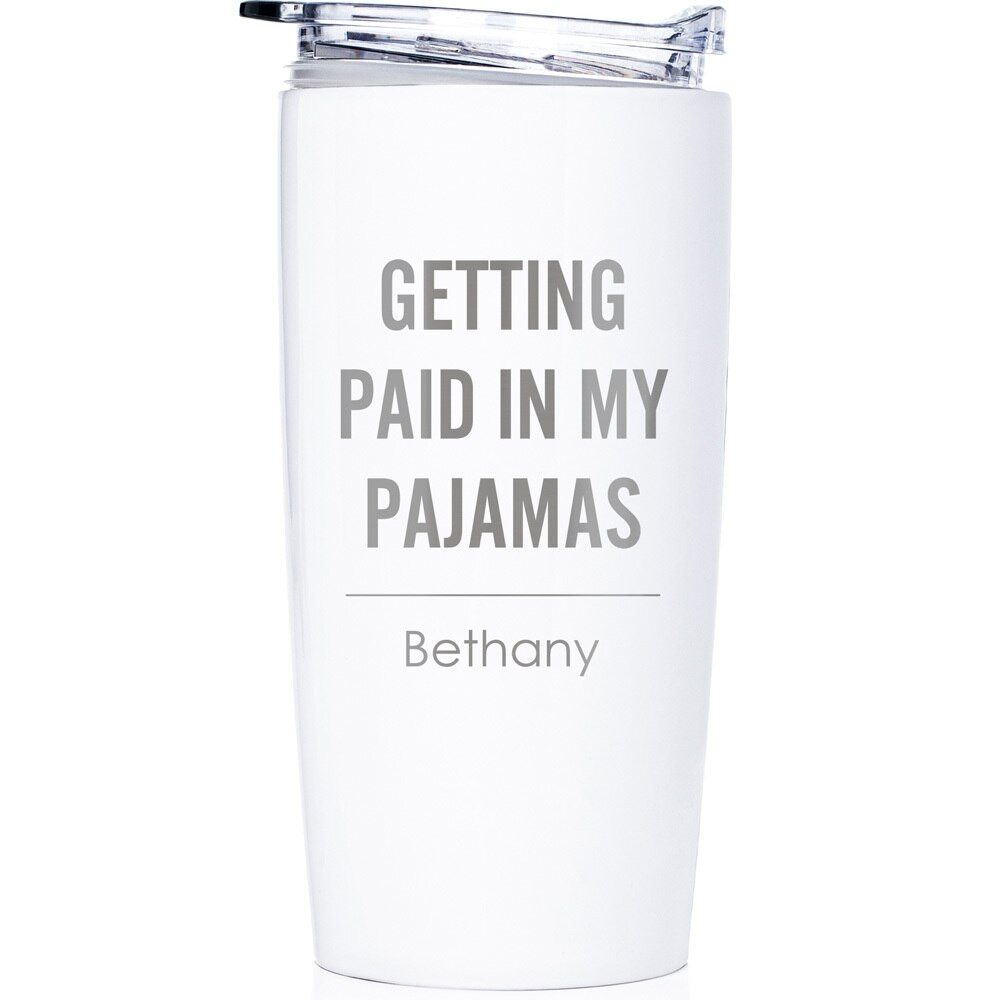 Personalized Funny Working Remotely Stainless Steel Tumbler
