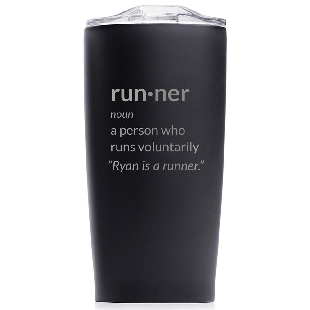 funny marathoner gift tumbler personalized