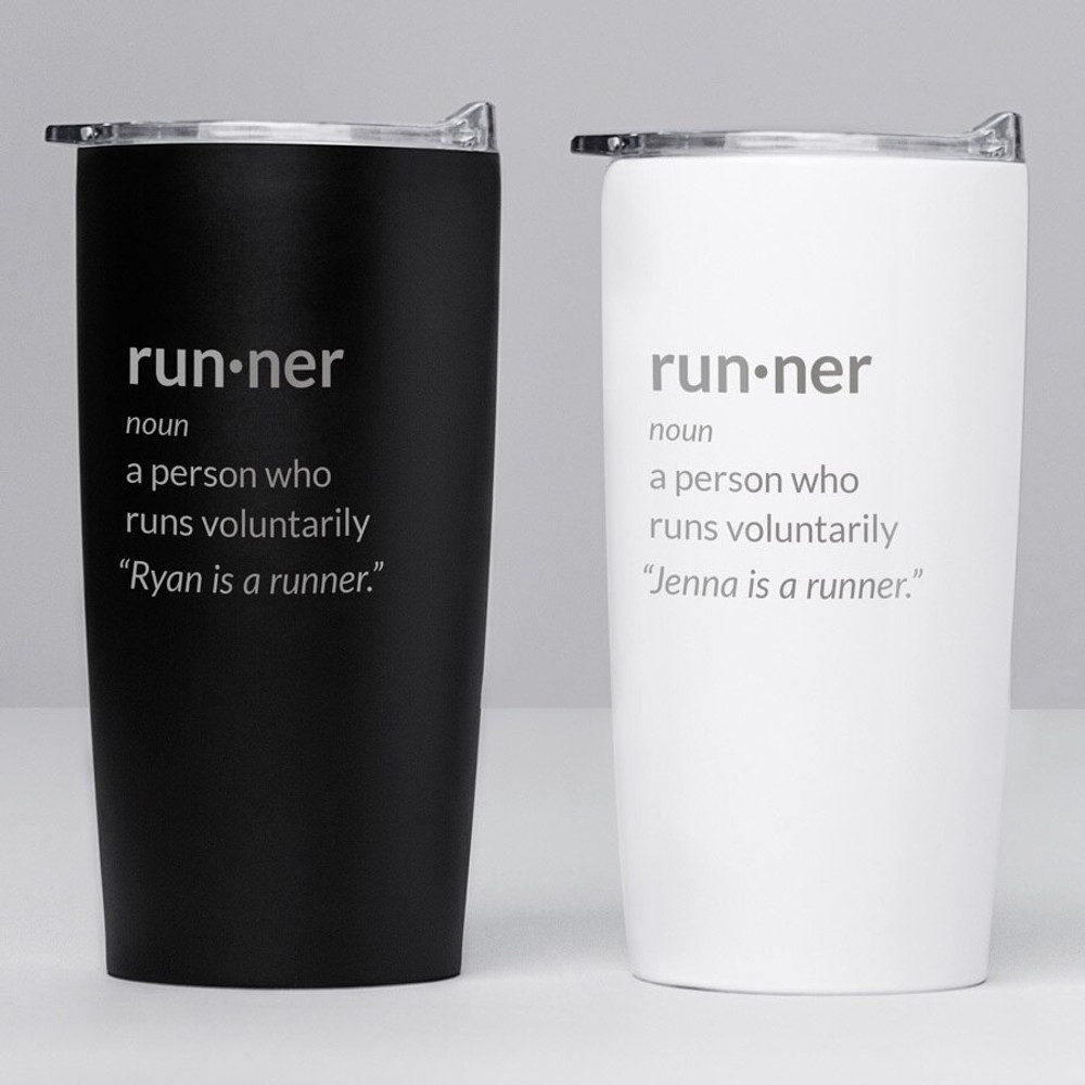 personalized runner definition tumbler gift coffee travel mug