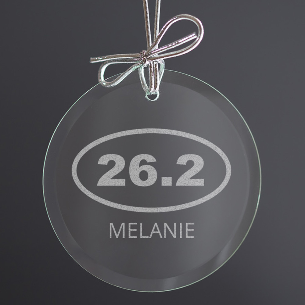 unique runner ornament gift for christmas glass