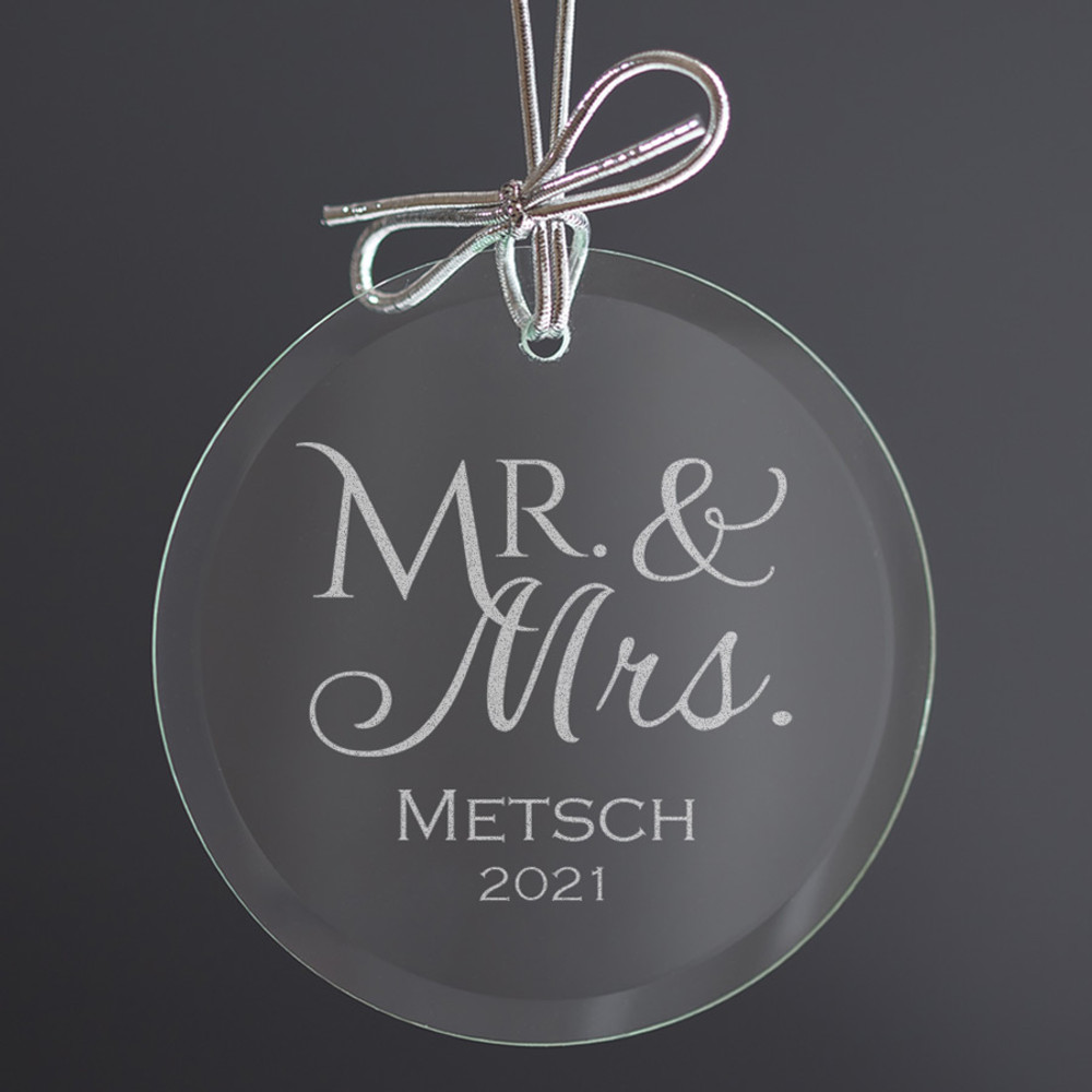 Personalized Mr. & Mrs. Ornament