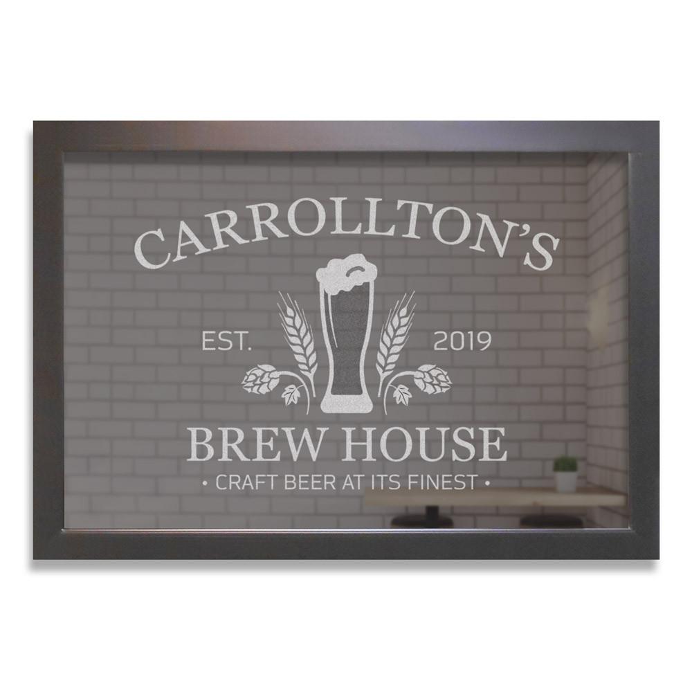 Custom Bar Mirror - Craft Beer