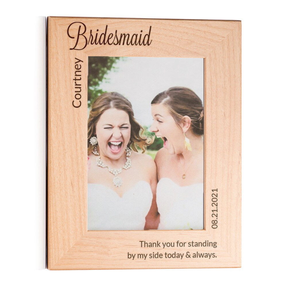 bridesmaid gift picture frame