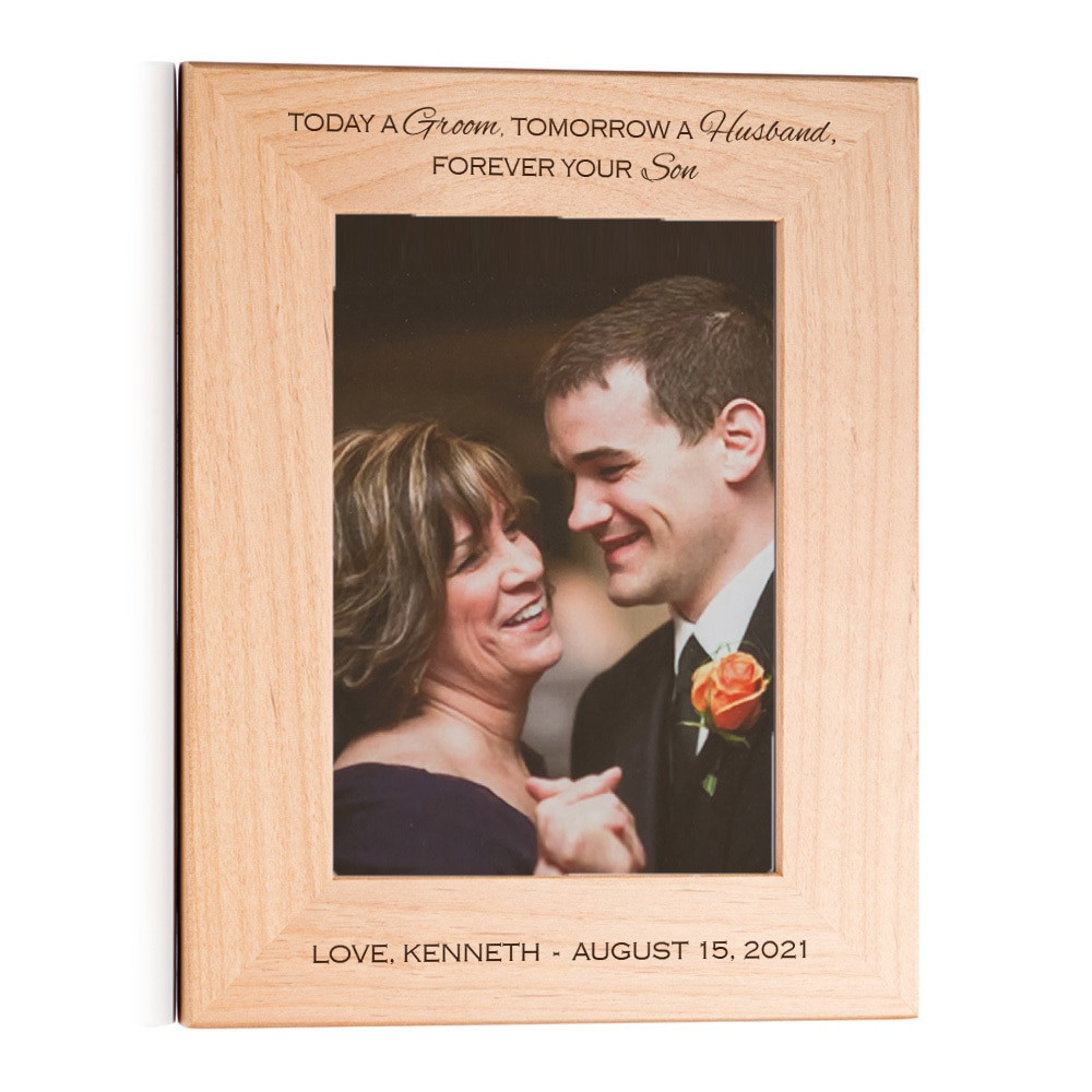 mother of the groom wedding gift picture frame
