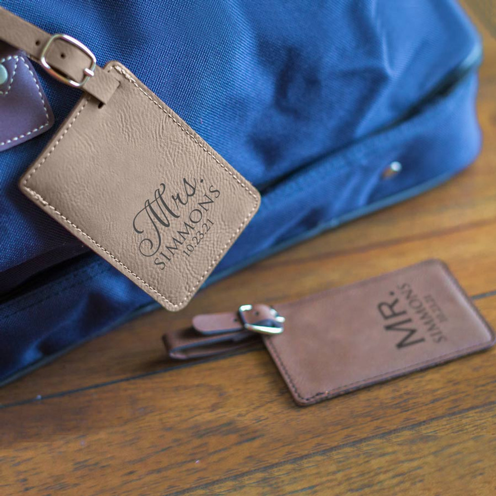 Personalized Mr & Mrs Luggage Tags Lifestyle