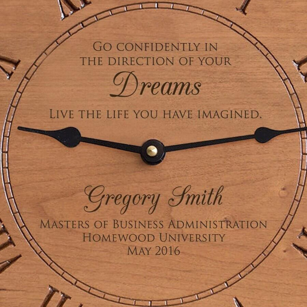 Personalized Graduation Gift Clock for Professional Degree