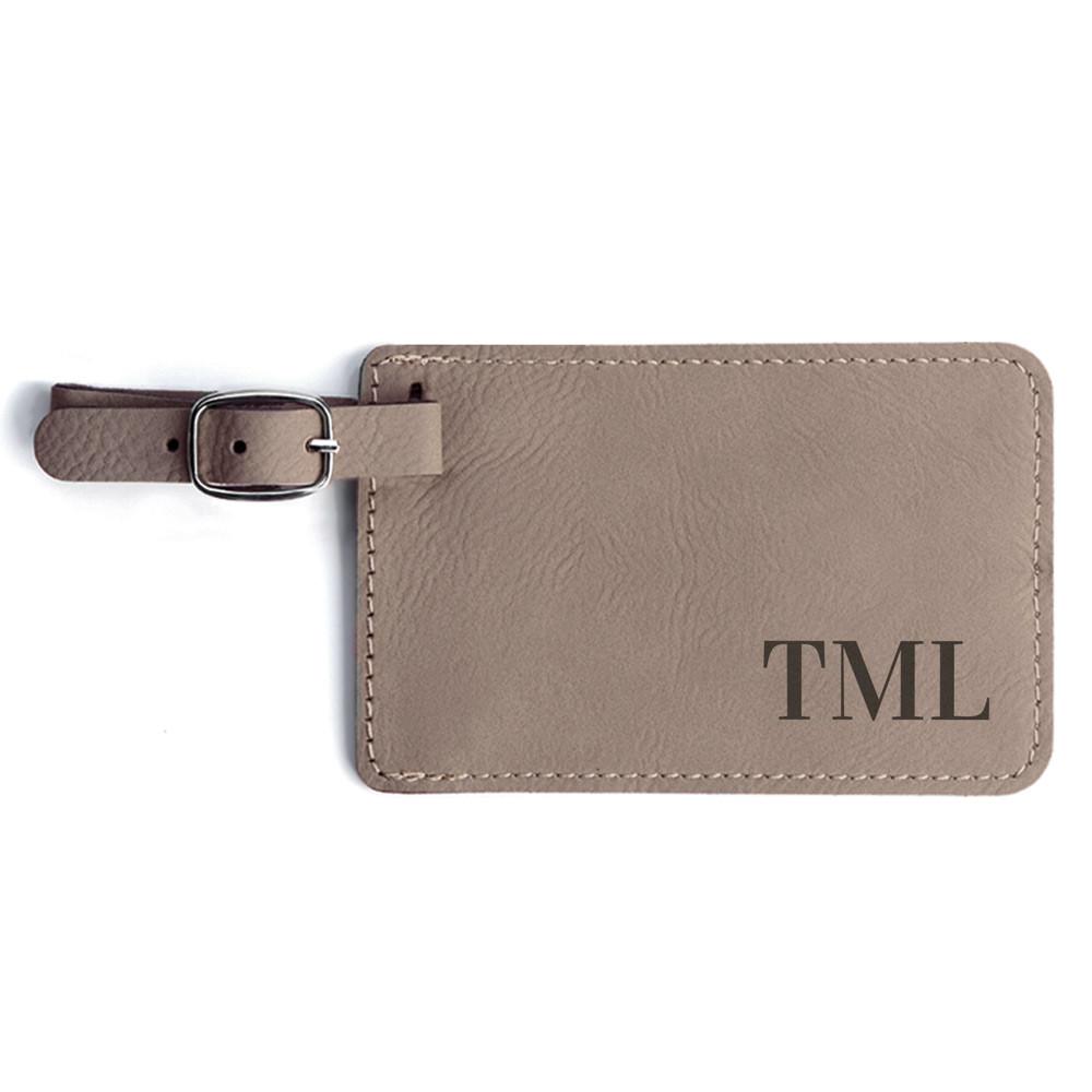 Monogrammed Luggage Tag