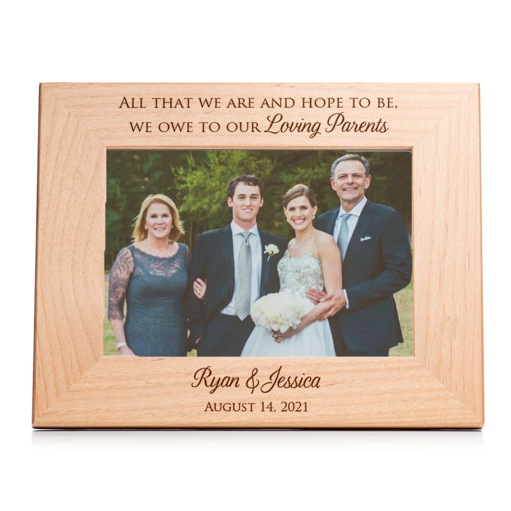 parents wedding picture frame gift