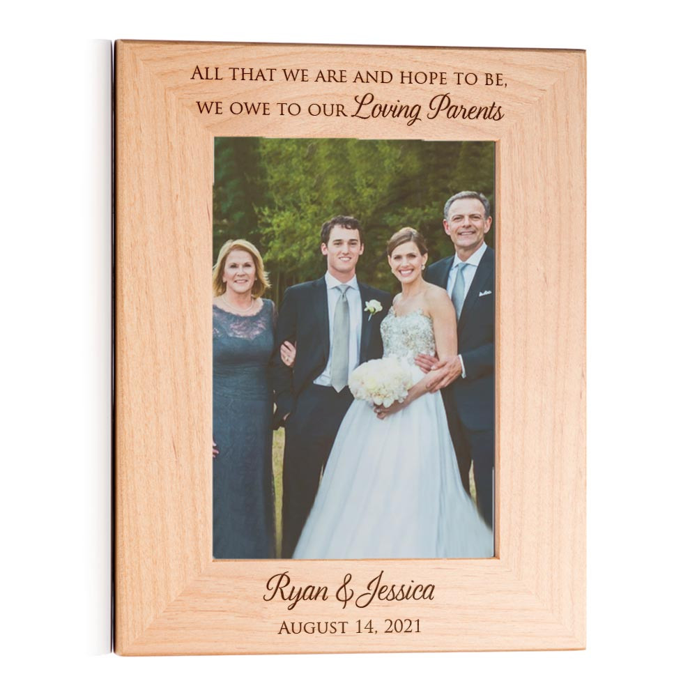 wedding picture frames for parents