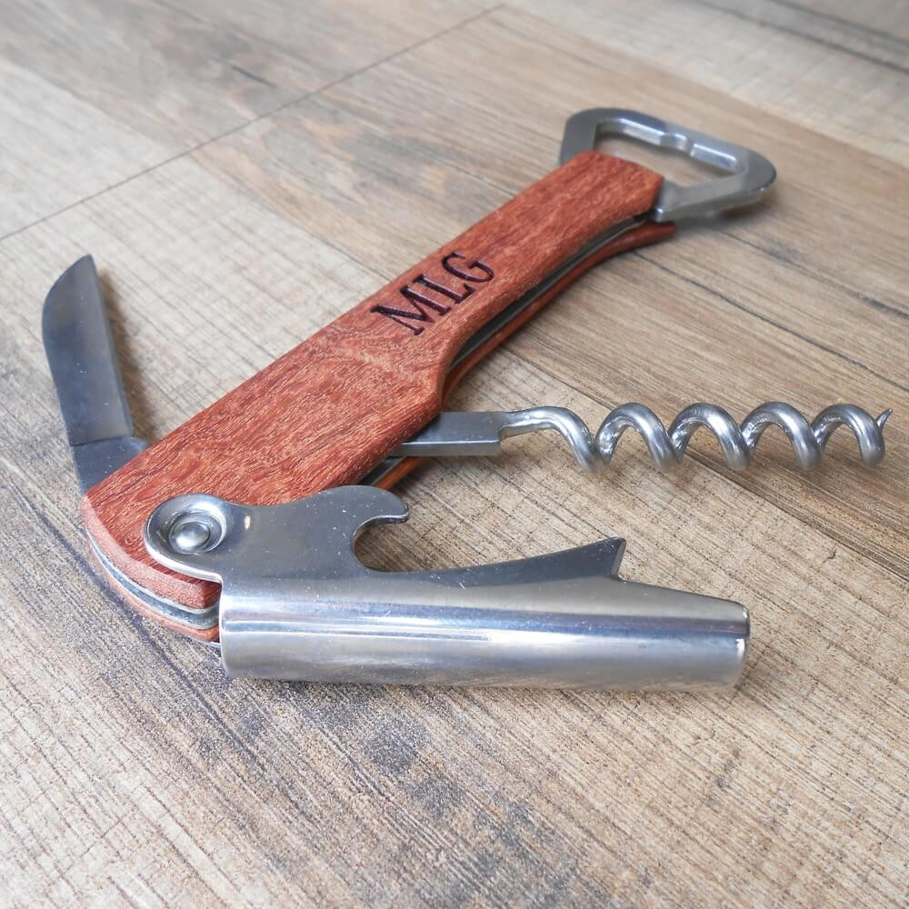 Personalized Corkscrew & Bottle Opener