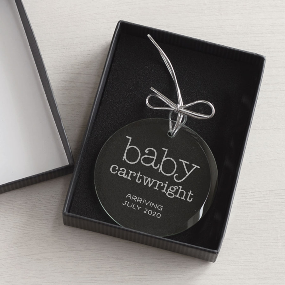 Personalized Expecting Baby Ornament gift box