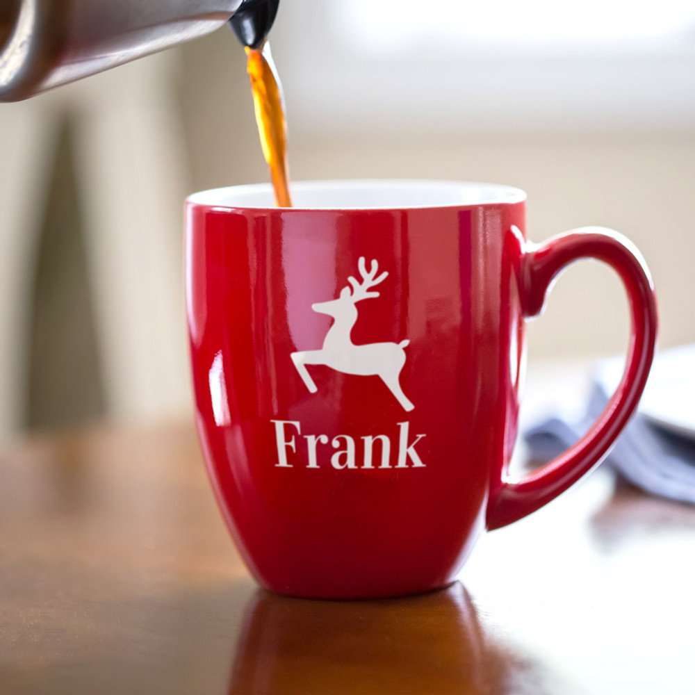 Personalized Reindeer Coffee Mug