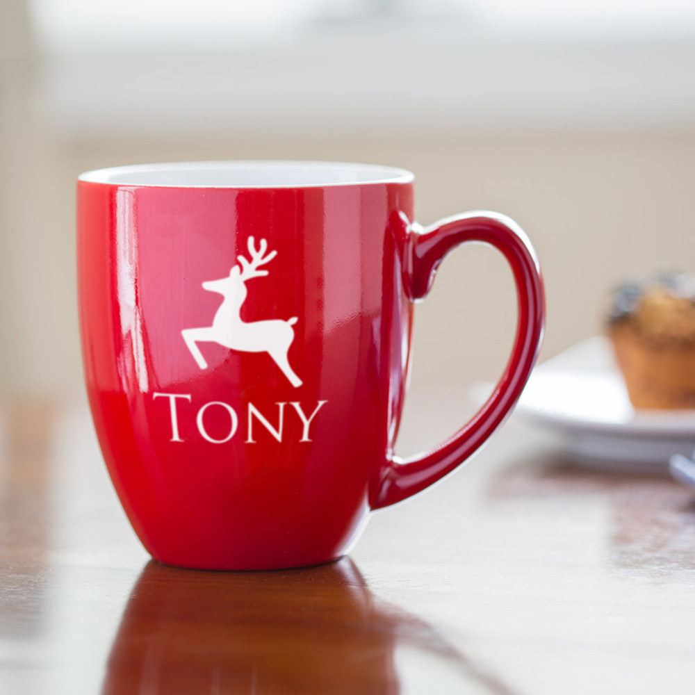 Personalized Reindeer Coffee Mug Lifestyle