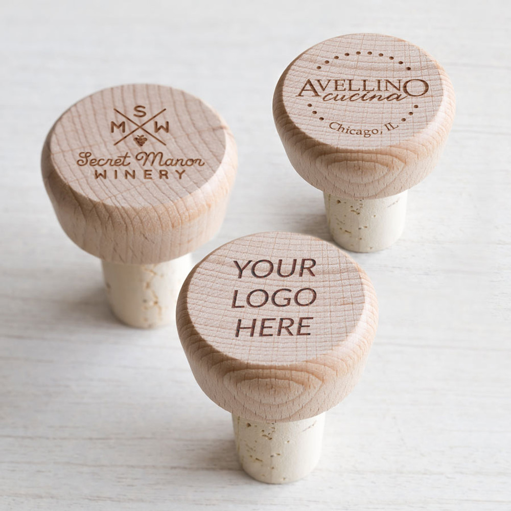 Bulk custom engraved wine stoppers with logo