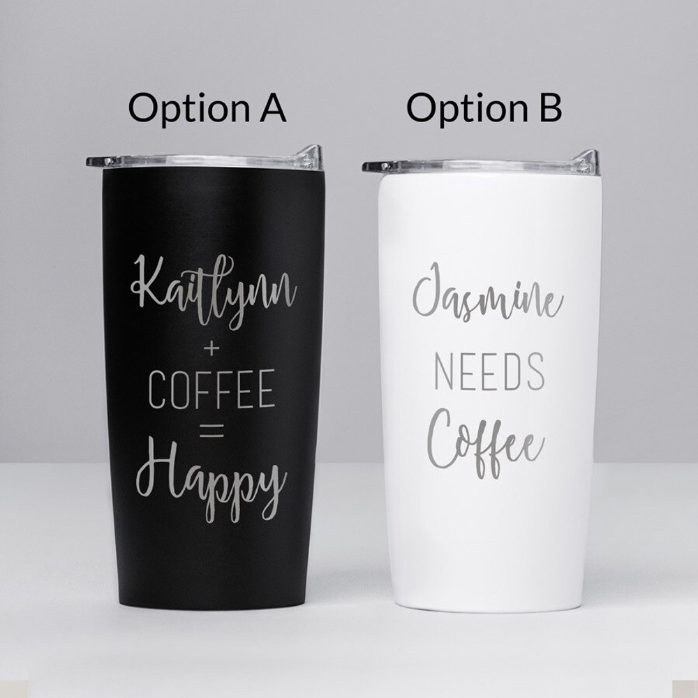 Personalized Stainless Coffee Travel Mug Options