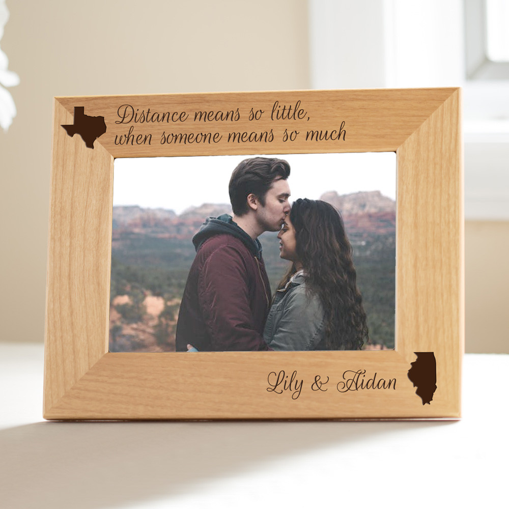 distance means so little when someone means so much personalized long distance photo frame gift