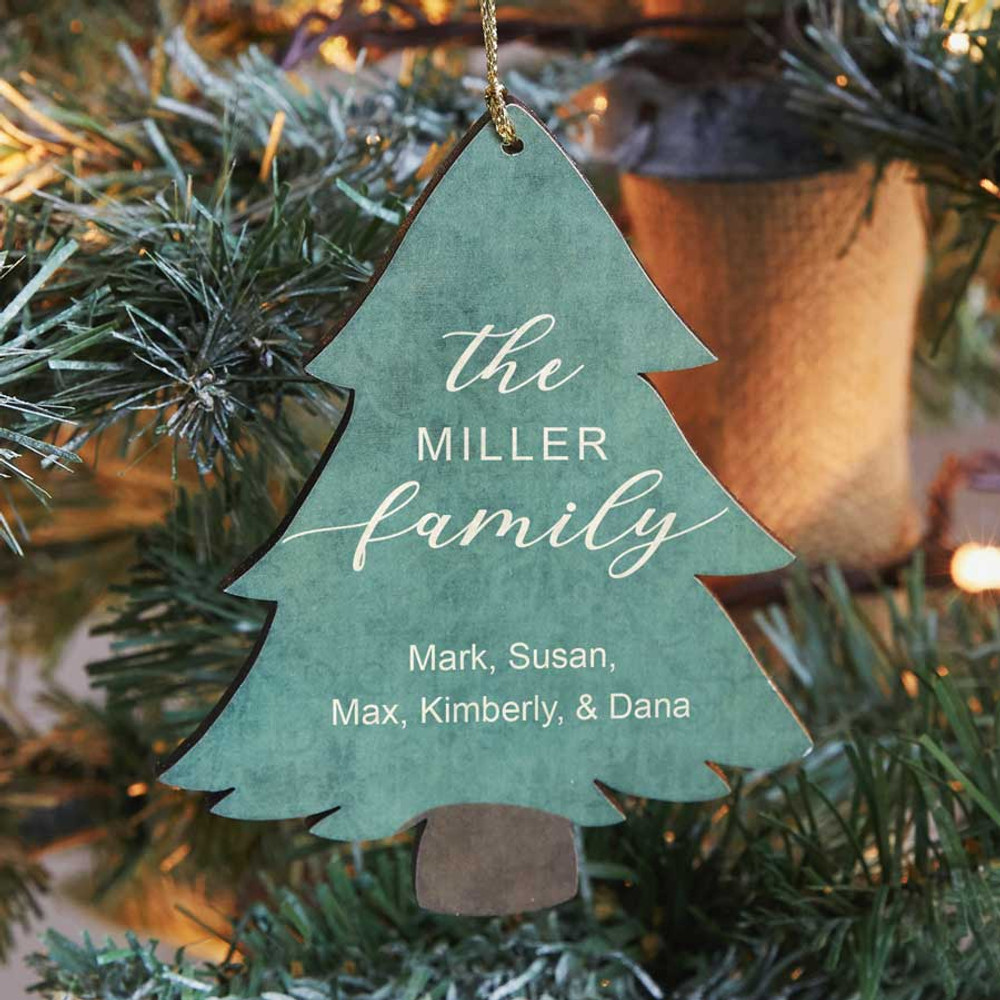 Personalized Family Christmas Tree Ornament