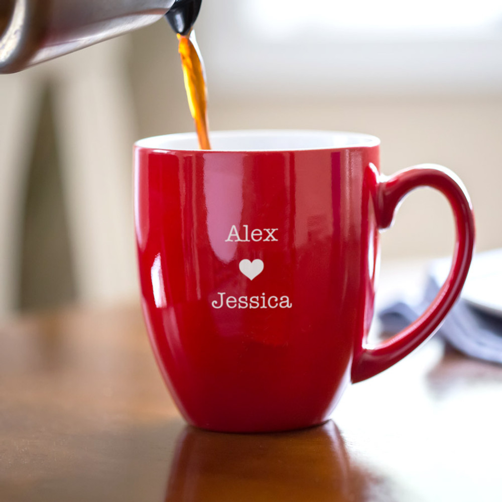 Personalized Valentine's Day Love Heart Coffee Mug