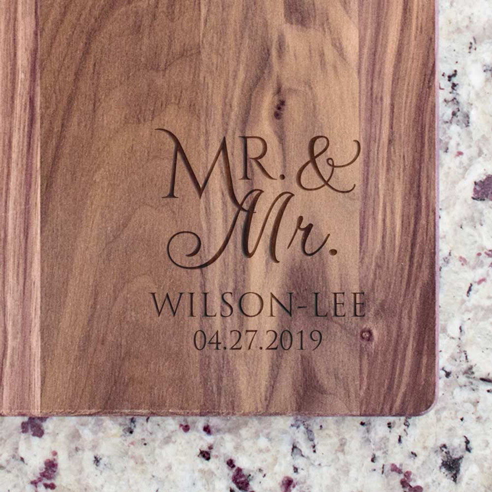 Personalized Mr. & Mr. Cutting Board
