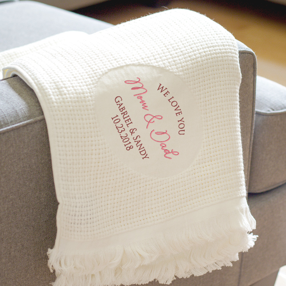 Personalized Blanket for Parents of the Bride & Groom