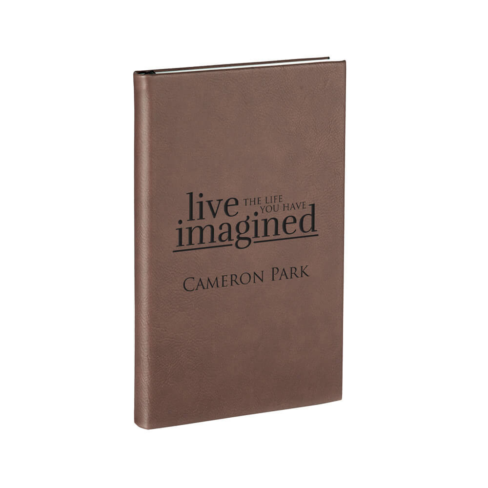 Personalized Leather Journal for Graduation Dark Brown