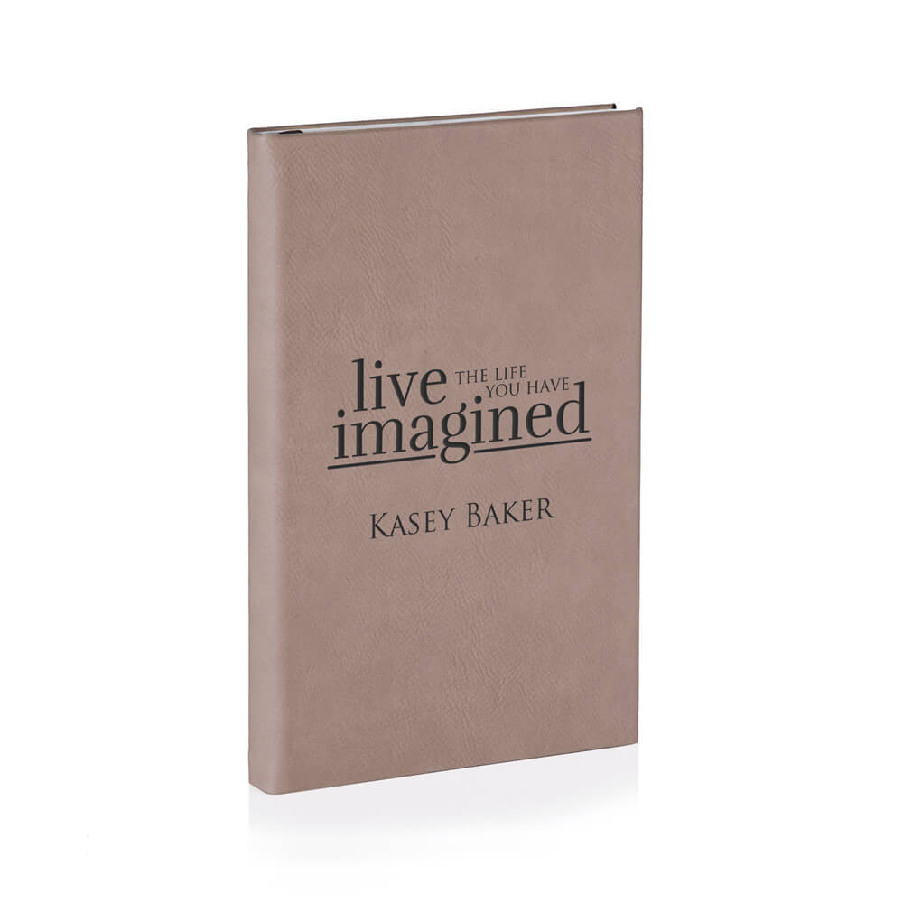 Personalized Leather Journal for Graduation Light Brown