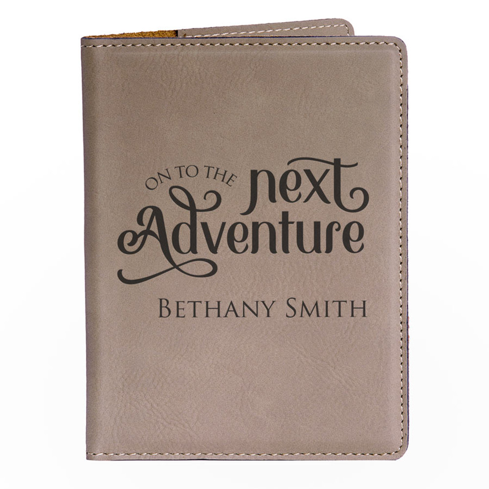 Personalized Light Brown Adventure Passport Cover