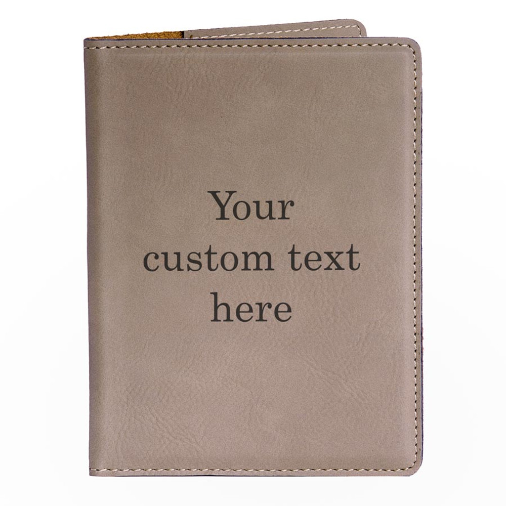 Create Your Own Personalized Light Brown Passport Cover